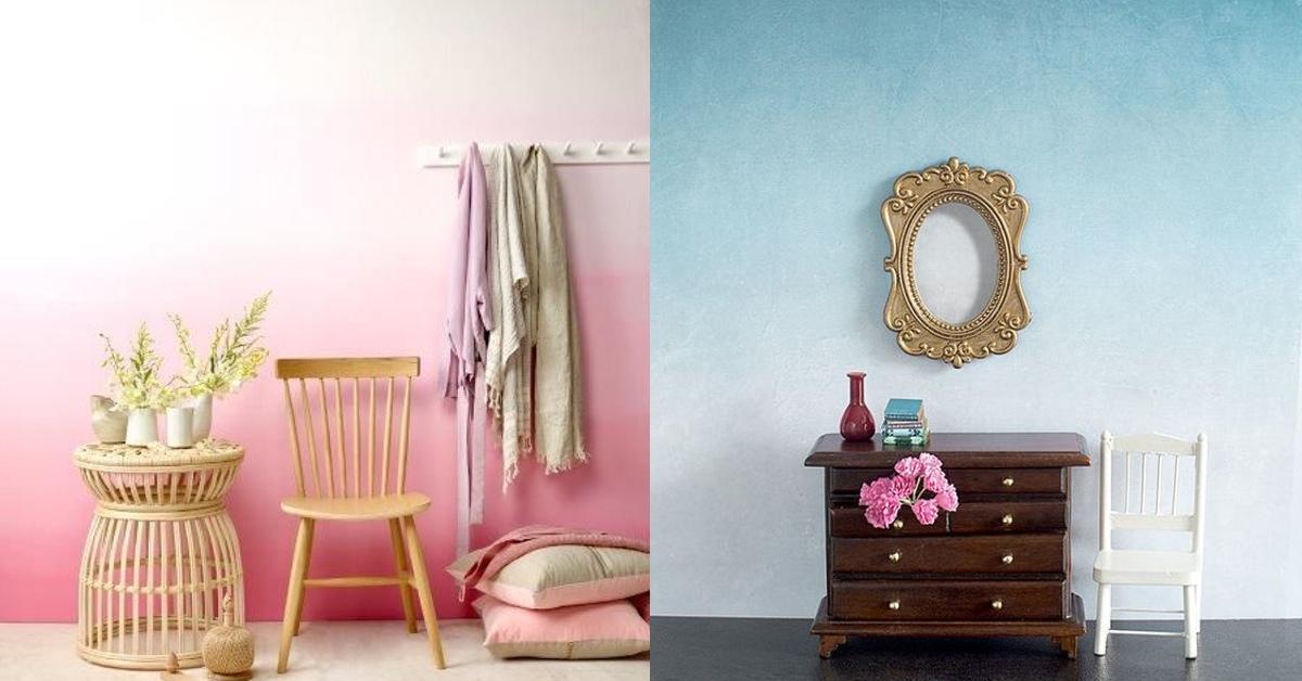 Ombr la moda con la que le dar s vida a tu pared - Mezclar colores para pintar paredes ...