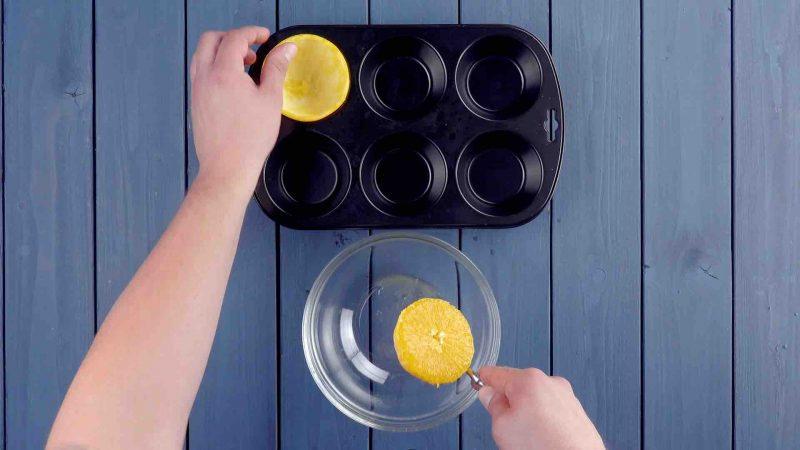 Cáscaras De Naranja En Vez De Moldes De Papel Para Unos Muffins Sin Igual